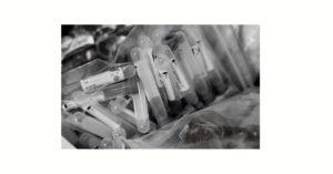 Discarded testing vials