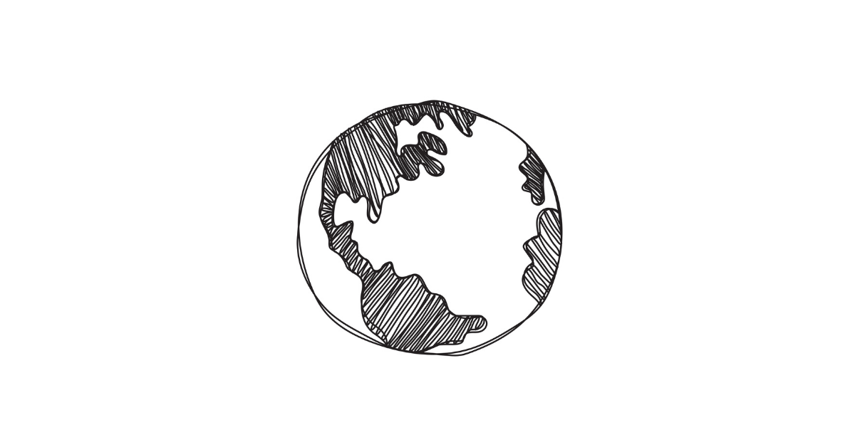 Hand drawn picture of the globe
