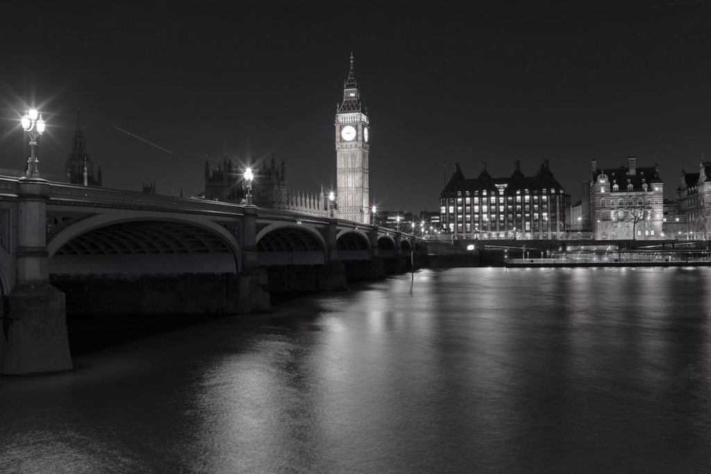 The Palace of Westminster, taken from the South Bank