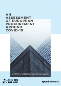 Front cover of our EU Covid-19 procurement report
