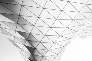 conical form made up of triangular panels
